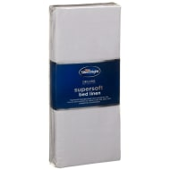 Silentnight Supersoft Single Fitted Sheet - Silver