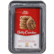 Betty Crocker Non-Stick Baking Tray Set 3pc