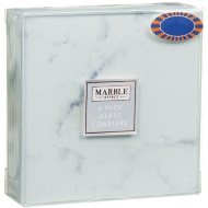 Marble Effect Glass Coasters 6pk