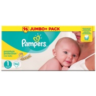 Pampers New Baby Jumbo+ 96pk - Size 1