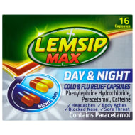 Lemsip Max Day & Night Cold & Flu Capsules 16pk