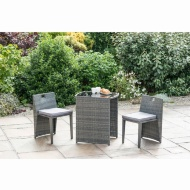 Sorrento Compact Square Bistro Set 3pc