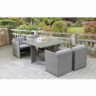Sorrento Cube Patio Set 5pc