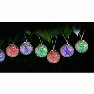 Dallas Ball Solar Powered String Lights 10pk - Colour Changing