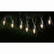 Caged Solar String Lights 10pk - Lantern