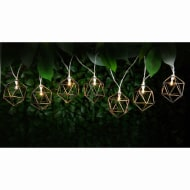 Caged Solar String Lights 10pk - Hexagonal