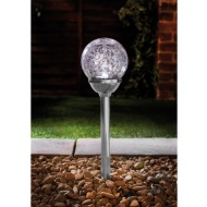 Vegas XL Crackle Ball Post Lights 5pk - Chrome