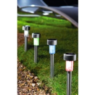 Eveready Mini Solar Lighting Posts 10pk - Colour Changing