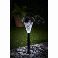 Bali Glass Top Solar Light Posts 5pk - Nickel
