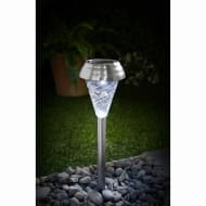 Bali Glass Top Solar Light Posts 5pk - Chrome