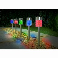 Dallas Solar Light Posts 5pk - Colour Changing