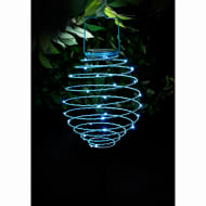 Solar Powered Spiral Lantern - Blue