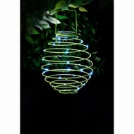 Solar Powered Spiral Lantern - Green