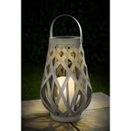 XL Roma Solar Powered Wicker Lantern