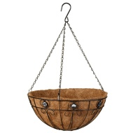 Decorative Hanging Basket with Clear Jewels 14