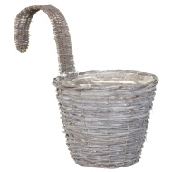 Grey Rattan XL Hooked Basket
