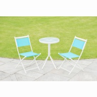 Barcelona Bistro Set 3pc - Blue