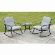 Madison Padded Rocking Bistro Set 3pc