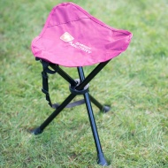 Swiss Military Compact Tripod Chair - Burgundy