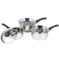 Morphy Richards Stainless Steel Pan Set 3pk