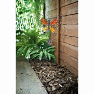 Stained Glass Butterfly Stake - Orange