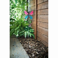 Stained Glass Butterfly Stake - Pink & Aqua