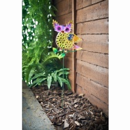 Metallic Owl Stake - Purple