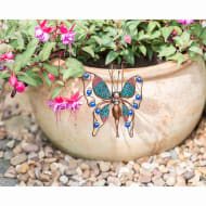 Glitter Butterfly Plant Pot Hook - Blue