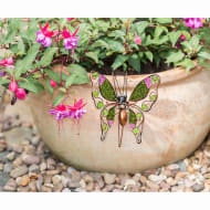 Glitter Butterfly Plant Pot Hook - Green