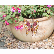 Glitter Butterfly Plant Pot Hook - Pink