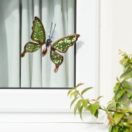 Glitter Butterfly Window Decoration - Green