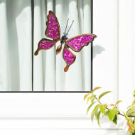 Glitter Butterfly Window Decoration - Pink