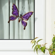 Glitter Butterfly Window Decoration - Purple