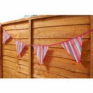 12 Flag Garden Bunting - Colour Stripe