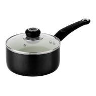 Morphy Richards Ceramic Saucepan 18cm - Black