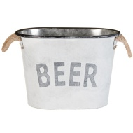 Galvanised 'Beer' Bucket