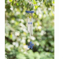 Bright Butterfly Wind Chime - Blue