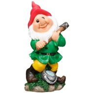 Garden Gnome with Pickaxe