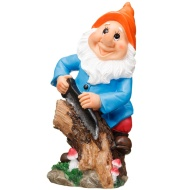 Garden Gnome with Saw