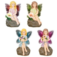 Fairy Statue with Mosaic Wings