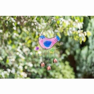 Stained Glass Bird Wind Chime