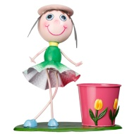 Dancing Kid with Plant Pot - Green