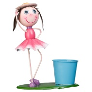 Dancing Kid with Plant Pot - Pink