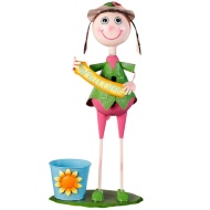 XL Dancing Kid with Plant Pot - Green