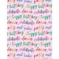 Foil Wrapping Paper 3m - Celebrate