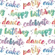 Foil Wrapping Paper 3m - Happy Birthday