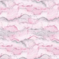 Foil Wrapping Paper 3m - Pink Marble
