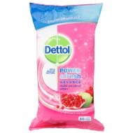 Dettol Wipes 80pk - Pomegranate