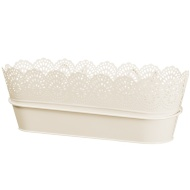 Decorative Hooked Planter Trough - Cream