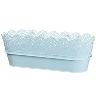 Decorative Hooked Planter Trough - Blue